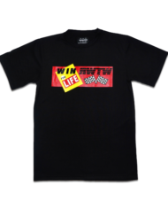 Tee – Win For Life Black Front